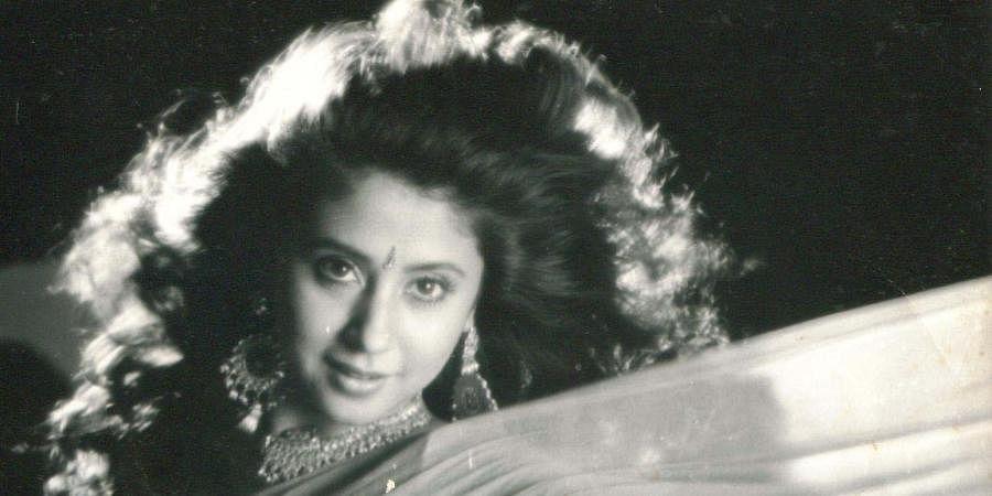 Bollywood actress Urmila Matondkar during a song sequence.