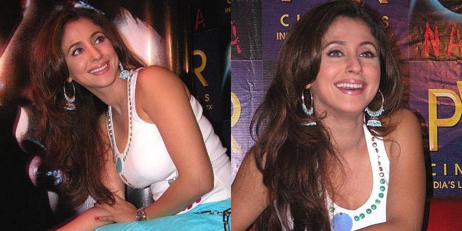 Bollywood actress Urmila Matondkar posing at Forum Mall during release of her film 'Naina'.