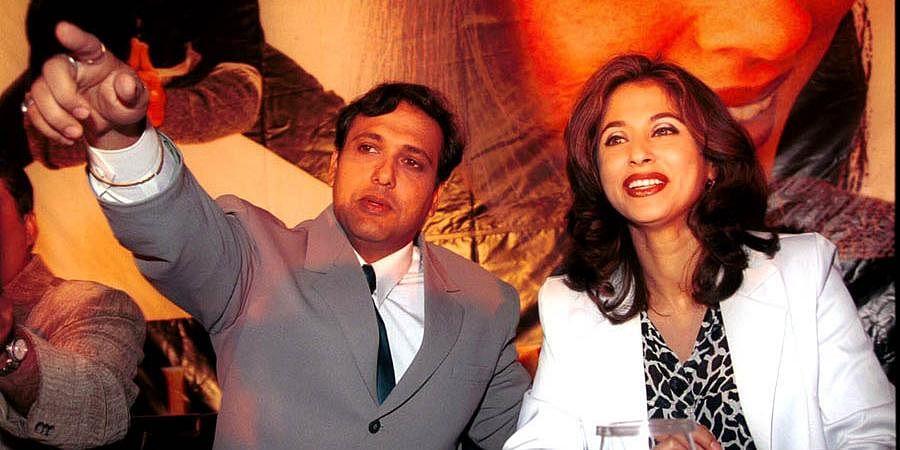 Bollywood actors Govinda and Urmila Matondkar at the premiere of their film 'Kunwara' in New Delhi.