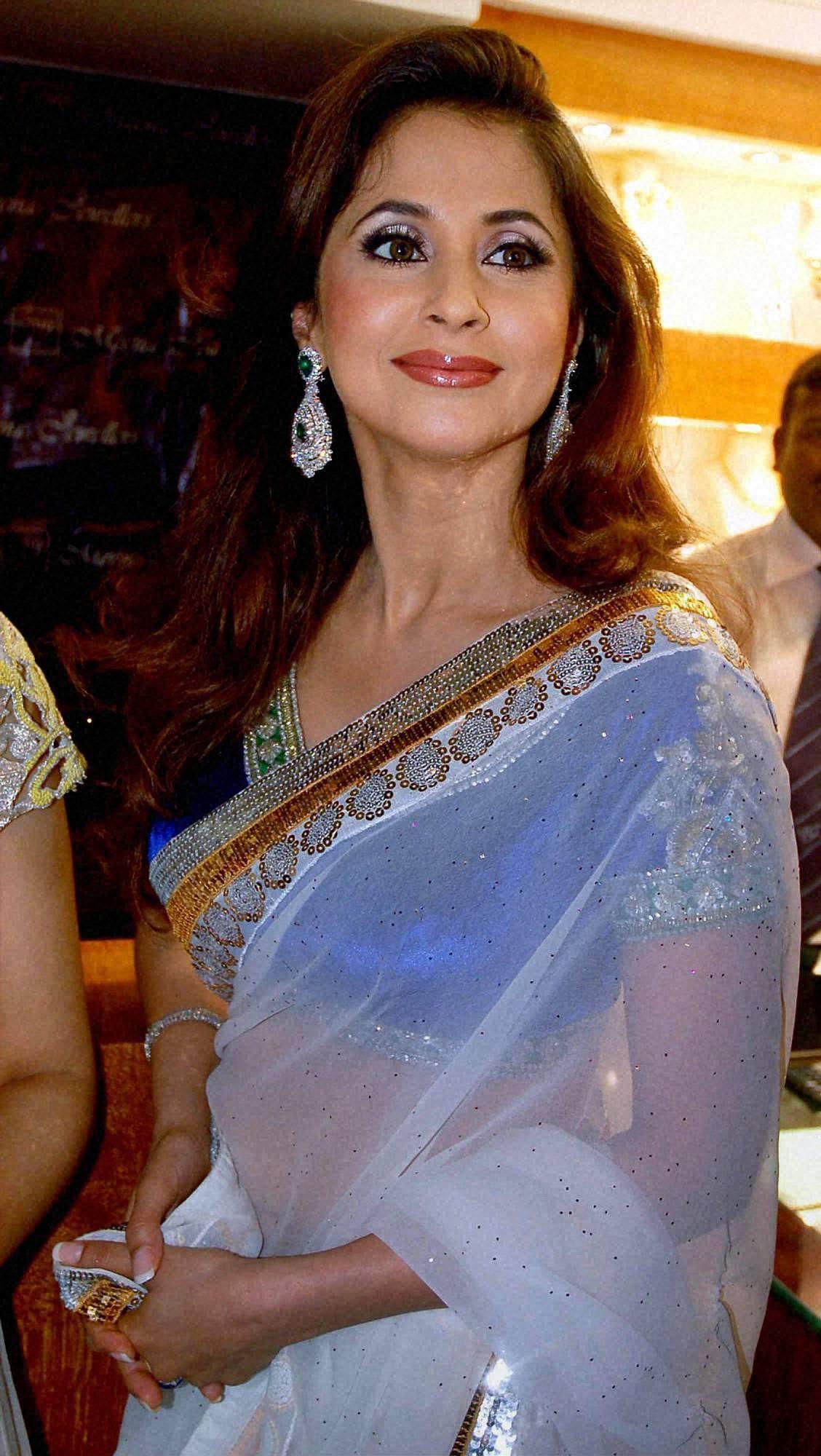 Bollywood actress Urmila Matondkar at an promotional event in Hyderabad.