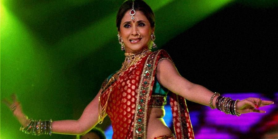Bollywood actress Urmila Matondkar performs during at TV reality show in Mumbai.