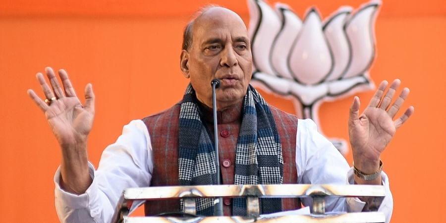 Defence minister and BJP leader Rajnath Singh