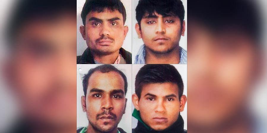 Nirbhaya gang rape case convicts (clockwise from top left) Akshay Thakur, Vinay Sharma, Pawan Gupta and Mukesh Singh.