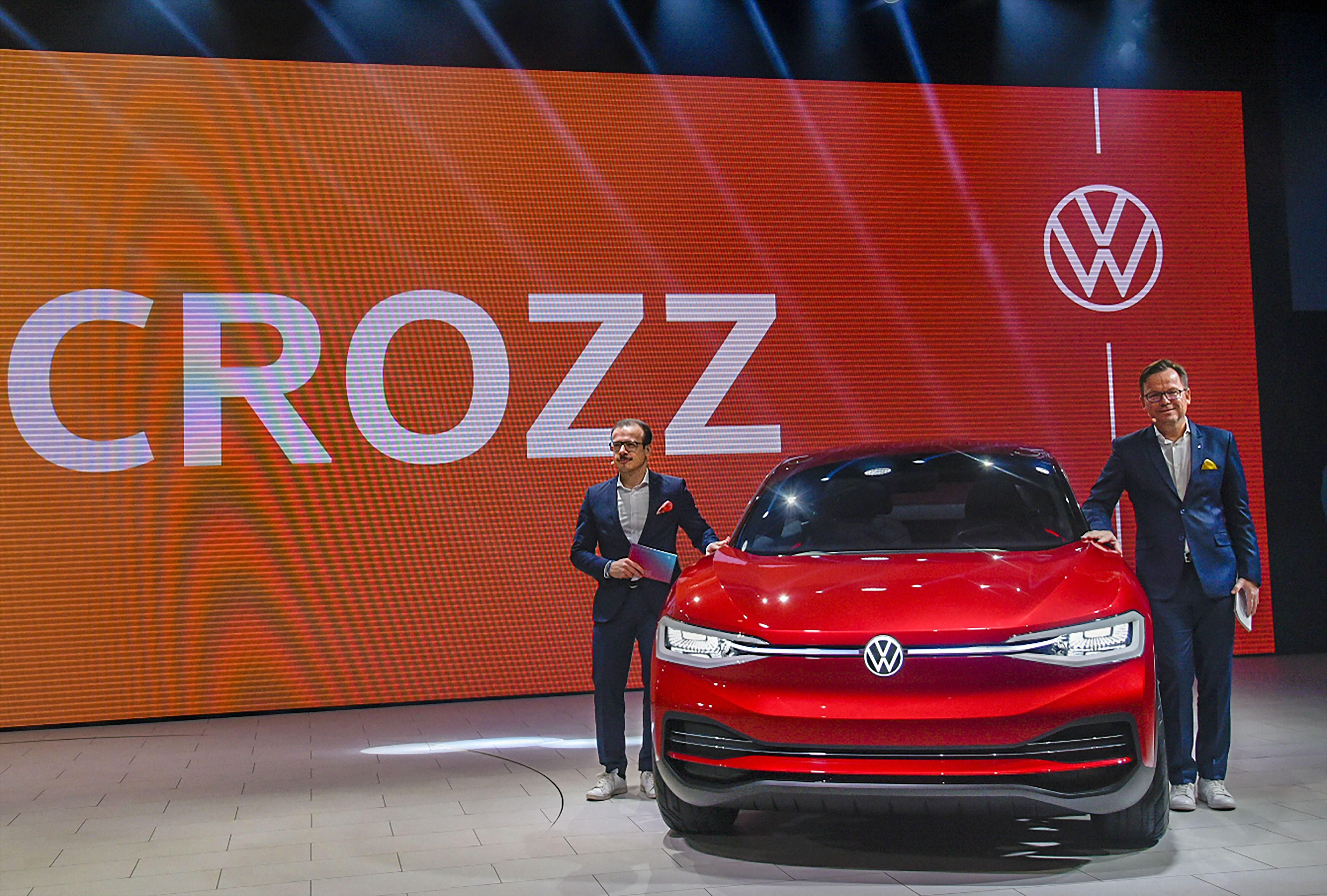 Volkswagen unveils the 'ID Crozz', a zero-emission electric SUV unveiled at the Auto Expo 2020, in Greater Noida