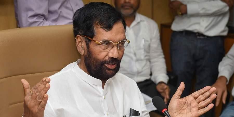 Union Minister for Consumer Affairs, Food and Public Distribution Ram Vilas Paswan