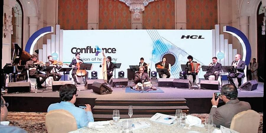 The 11 musicians performed 16 pieces of music during the event, which was a celebration of cultural diversity