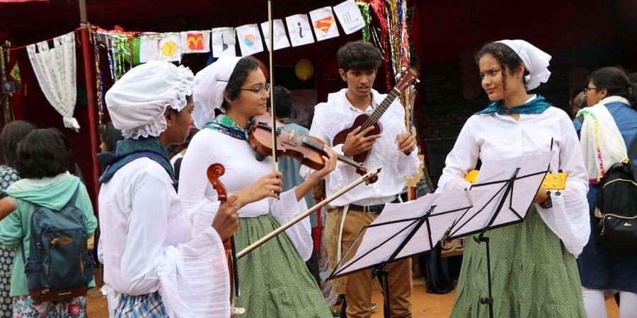 Students of Christ University during  one of their cultural events