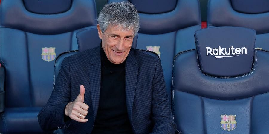 Barcelona coach Quique Setien