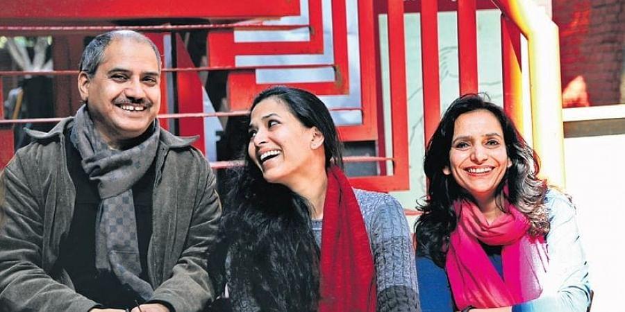 Artists Satish Sharma, Rubkirat Vohra and Anju Kaushik