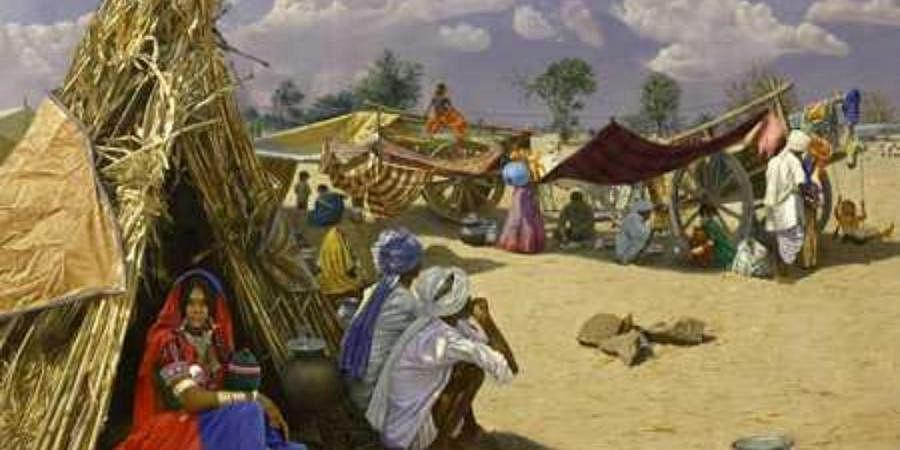 Narsimha Goud Rollu's painting of a tribal woman