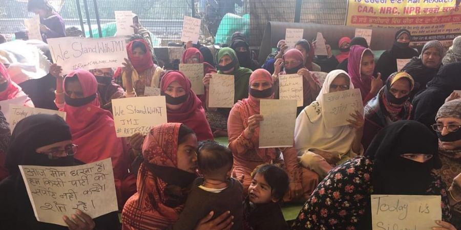 Women in Shaheen Bagh are on a silent protest against CAA protests.
