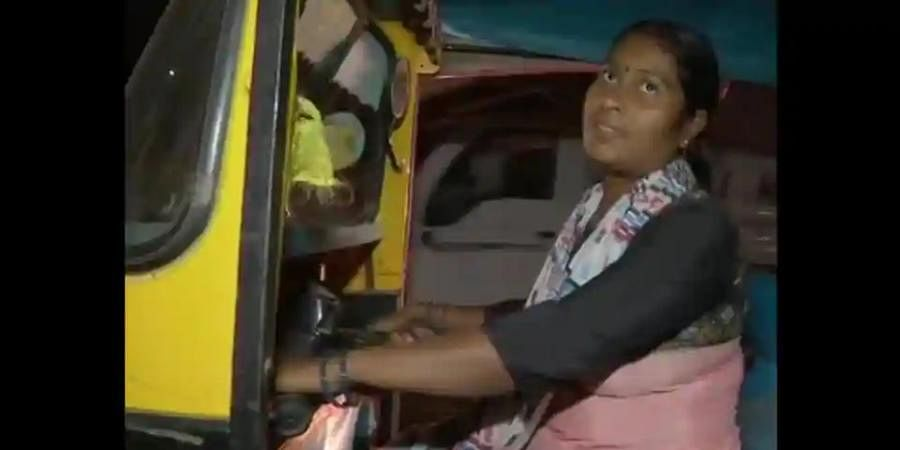 Sangeeta Kumari, the mother of three has been driving auto-rickshaw for the past four years.