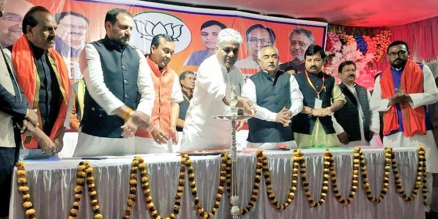 Senior BJP leader Bhupendra Yadav at an event.