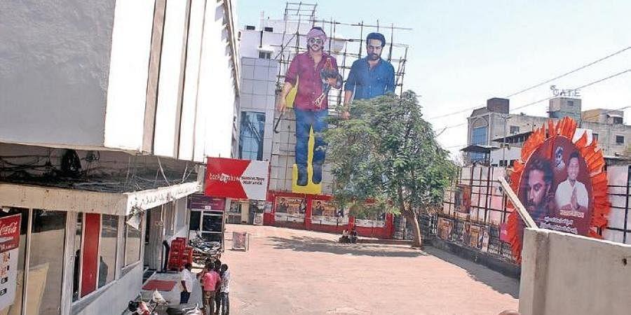 Cinema halls across Hyderabad wear a  deserted look on Sunday