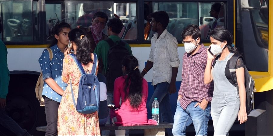 People wearing protective masks as precautionary measure for Coronavirus outbreak