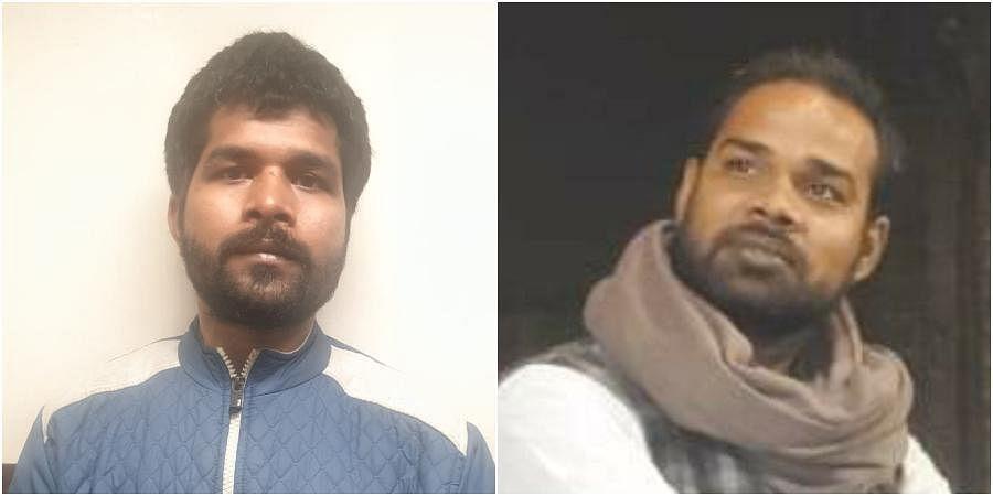 Lalu Kannaujia (L) and Sudhanshu Bajpai