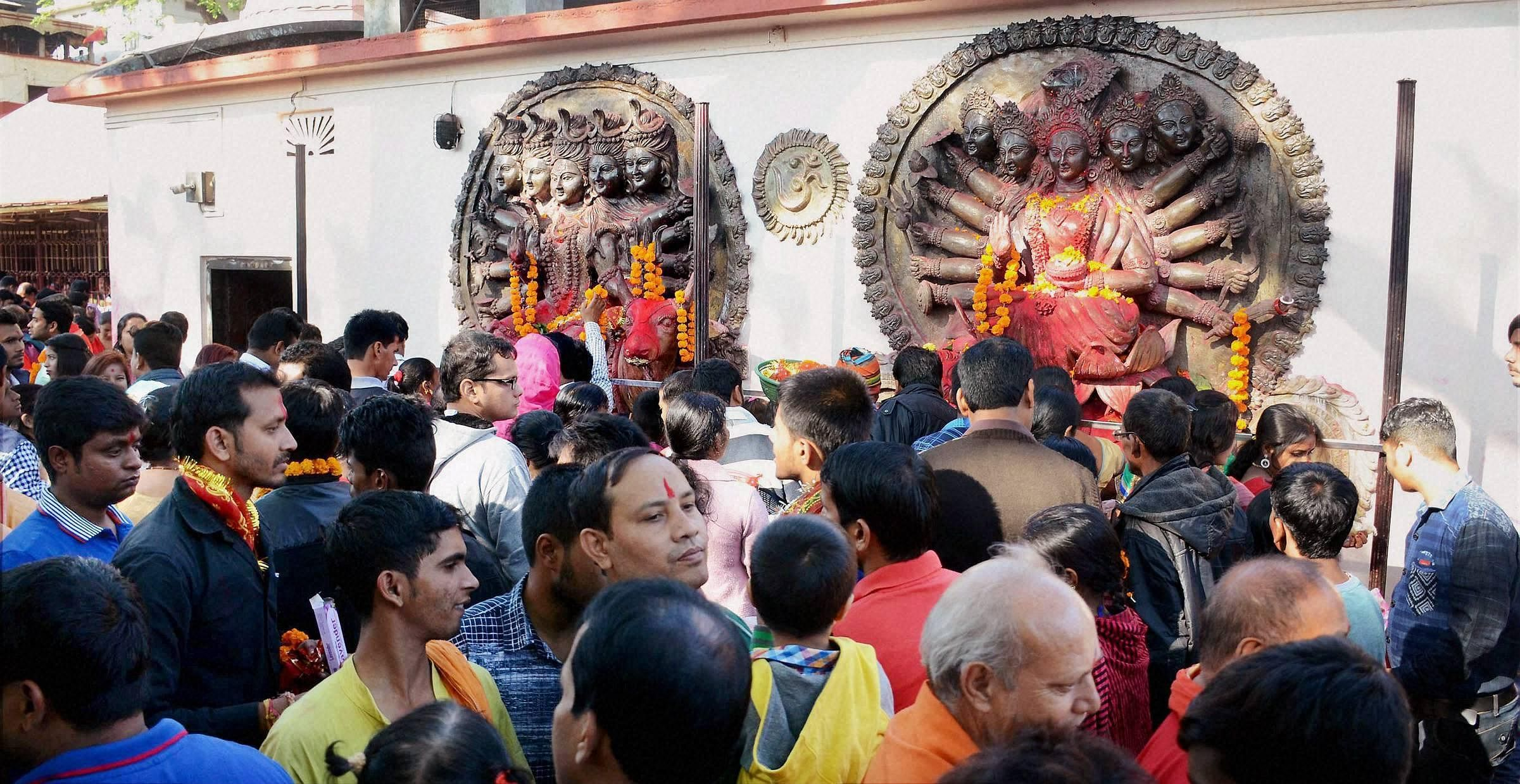 The temple administration of Kamakhya Temple has stopped the daily indulgence for a few days.