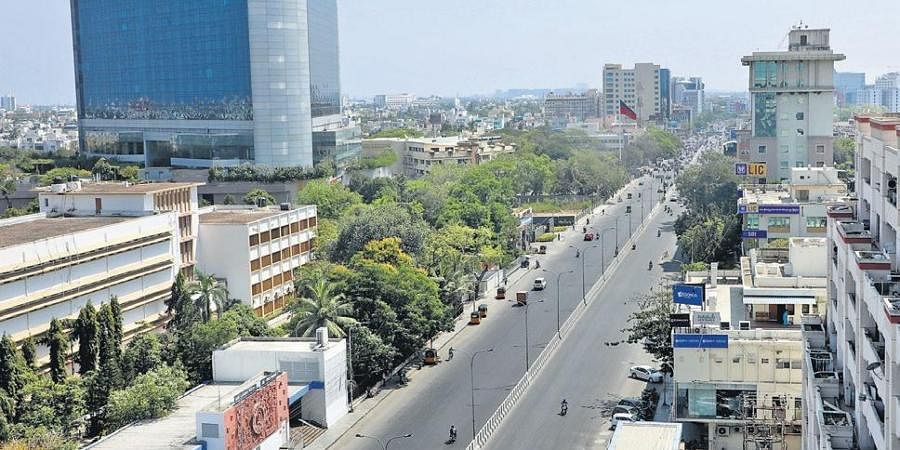 Known for its squeezing traffic routine, Anna Salai near Teynampet wore a deserted look on Wednesday since schools and colleges have shut down following a government order and people were instructed to stay indoors.