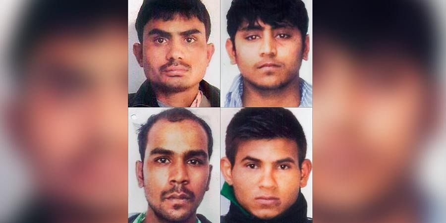 Nirbhaya gang rape case convicts (clockwise from top left) Akshay Thakur, Vinay Sharma, Pawan Gupta and Mukesh Singh.