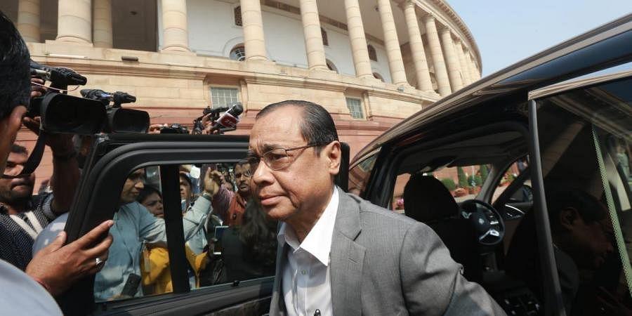 Former CJI Ranjan Gogoi arrives at Parliament house. (Photo|EPS/ Shekhar Yadav)
