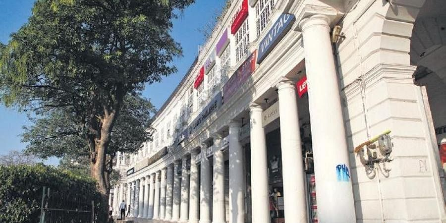 The busy Connaught Place is also seeing less footfall nowadays