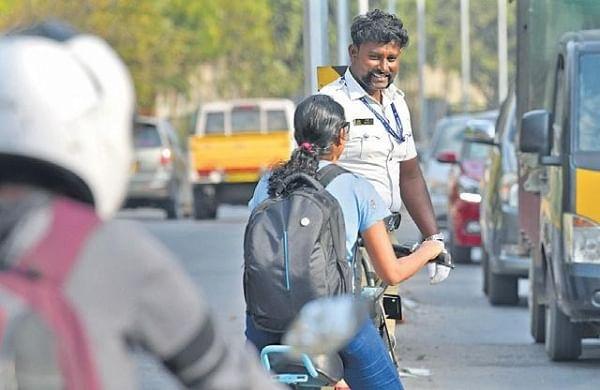 This Bengaluru 'Singham' doesn't roar, but smiles