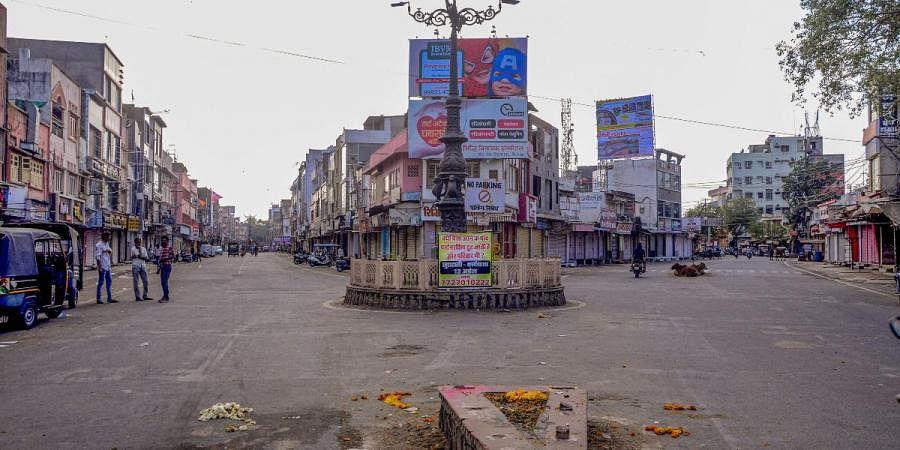 A deserted view of roads in the wake of novel coronavirus pandemic in Bhilwara
