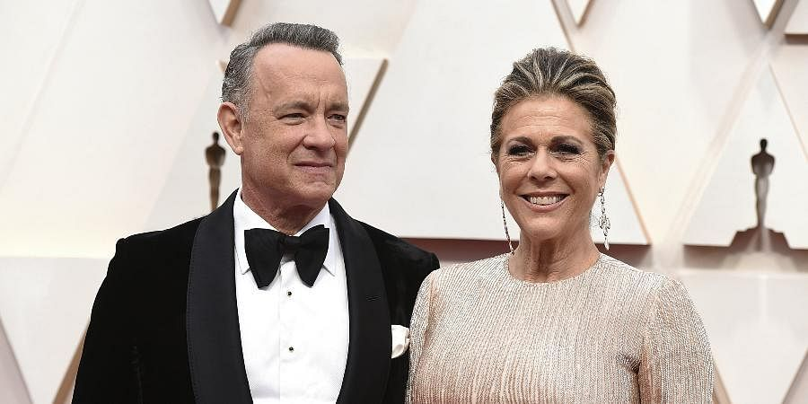 Hollywood actor Tom Hanks with his wife Rita Wilson
