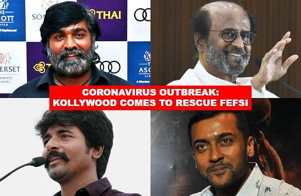 Several Kollywood top stars including Ranini, Suriya, Karthi and Vijay Sethupati, besides many filmmakers have pitched in to help the Film Employees Federation of South India (FEFSI) members.
