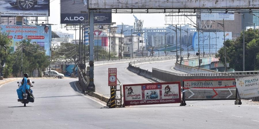 Malaysian Township roads in Hyderabad were deserted on Tuesday