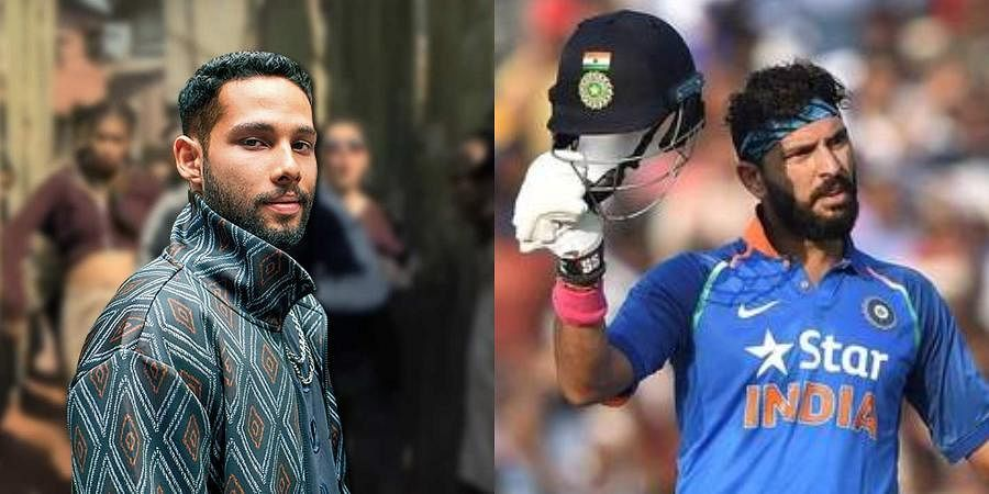 Bollywood actor Siddhant Chaturvedi (L) and Former Indian cricketerYuvraj Singh