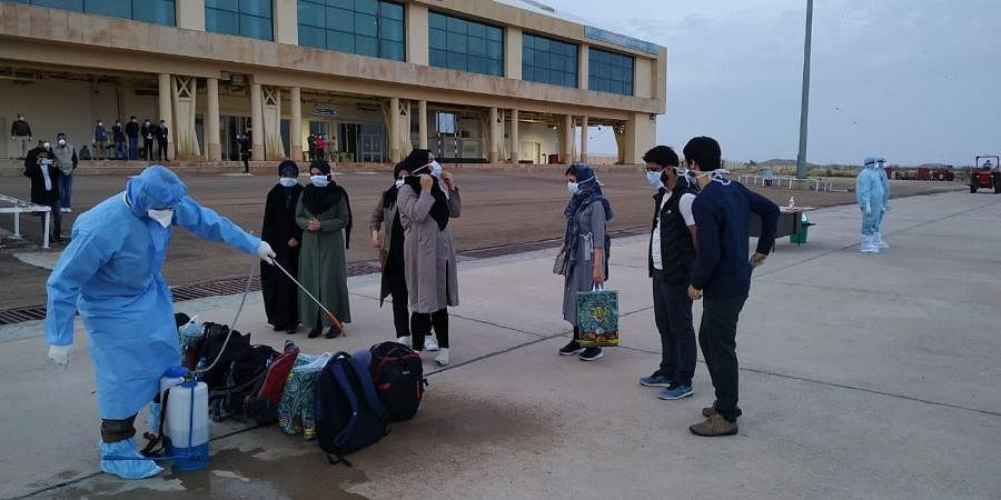 The Indians came in a Mahan Air flight that landed at the Delhi airport at around 3 am.