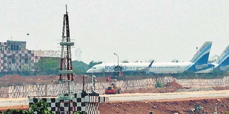 Domestic flights parked at Biju Patnaik International Airport in Bhubaneswar