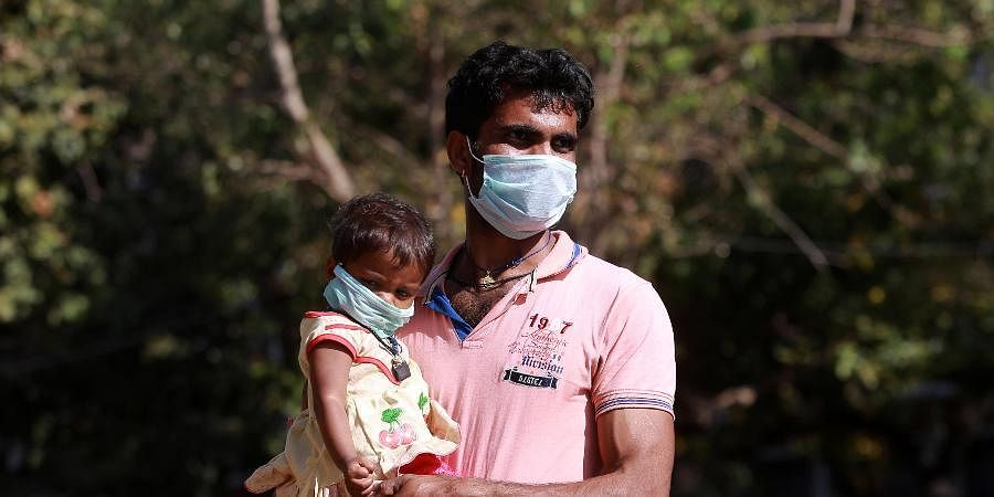 People wear masks to protect themselves from COVID-19 in the Andaman and Nicobar Islands.