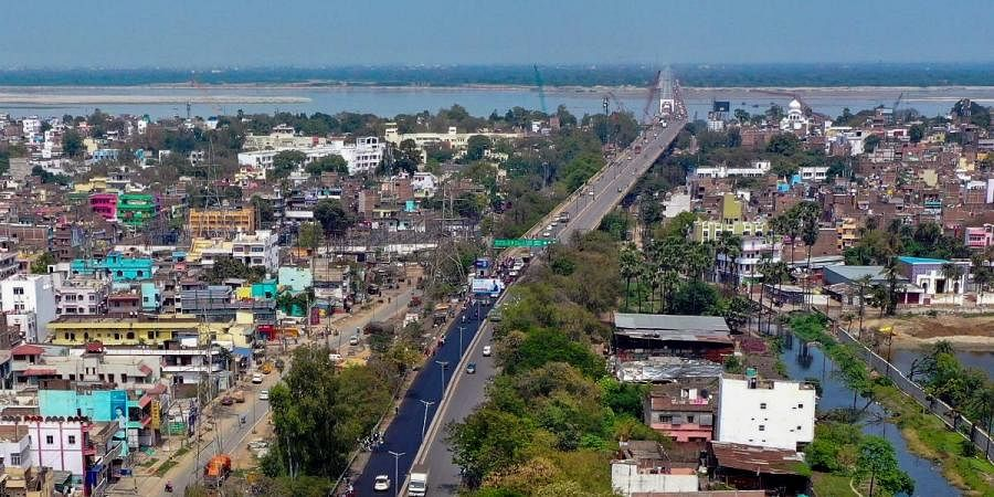 NH-30 wears a deserted look during a nationwide lockdown in the wake of coronavirus pandemic, in Patna