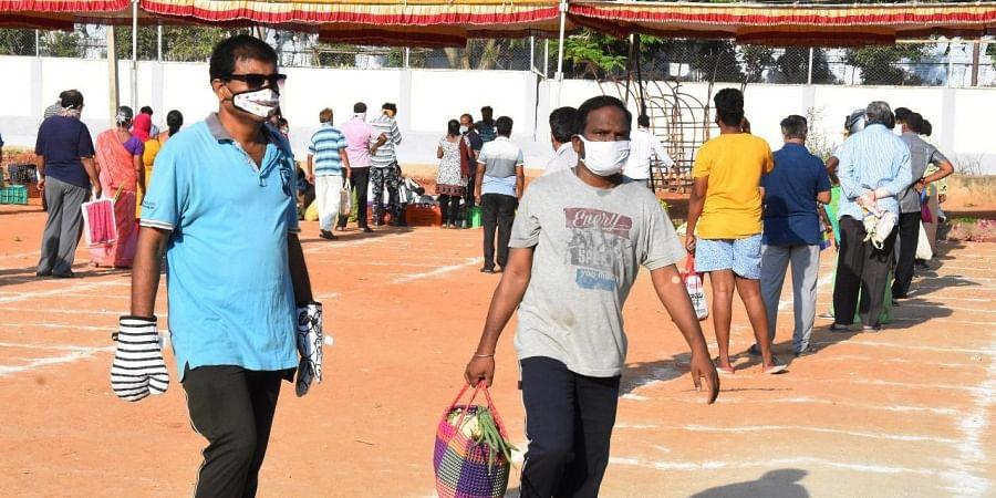 People wear mask as a preventive measure against coronavirus. (Photo| EPS/ Madhav K)