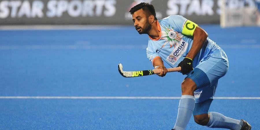 Indian men's hockey team captain Manpreet Singh