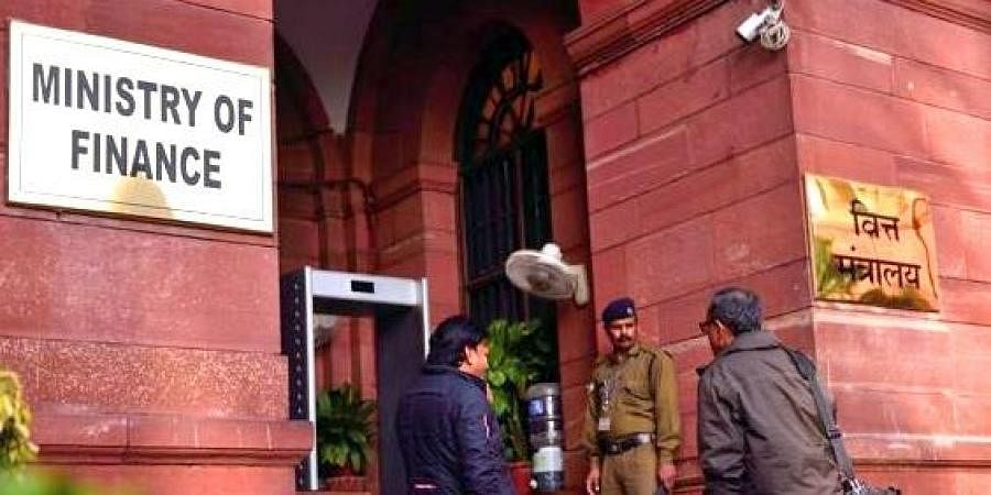 The Ministry of Finance office in New Delhi