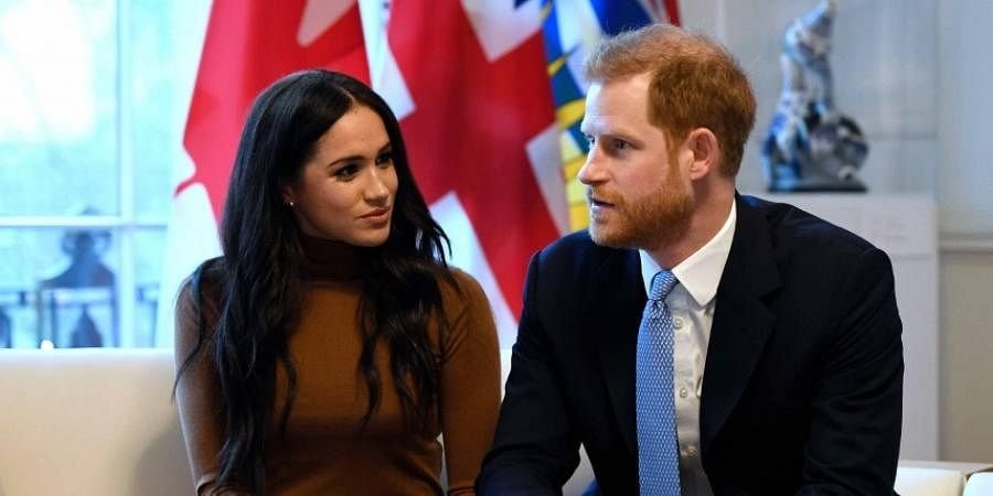 British Royals Prince Harry and his wife Meghan Markle