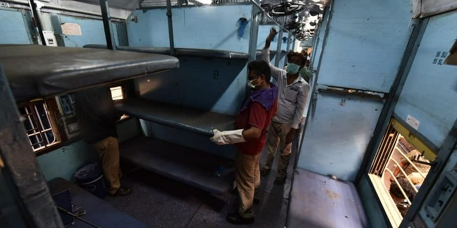 Train bogies being converted into hospital wards in Chennai's Perambur carriage workshop as railways decided to convert the bogies to accommodate the patients in case of emergency requirement.