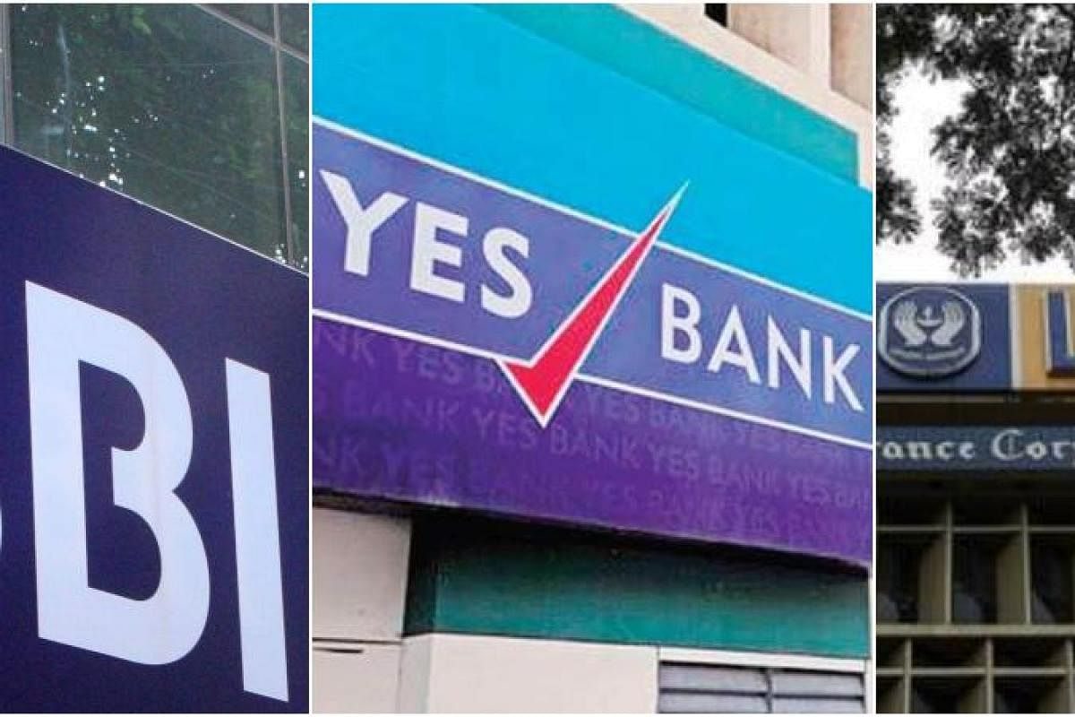 Design Bank Cor.Sbi Lic To Acquire 49 Per Cent Stake Of Yes Bank For Rs 490 Crore