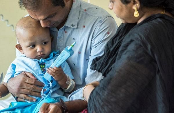 Liver transplant on one-year-old, Crowdfunding saves the infant's life