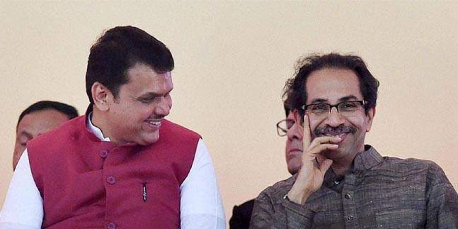 Maharashtra CM Devendra Fadnavis with Shiv Sena chief Uddhav Thackeray