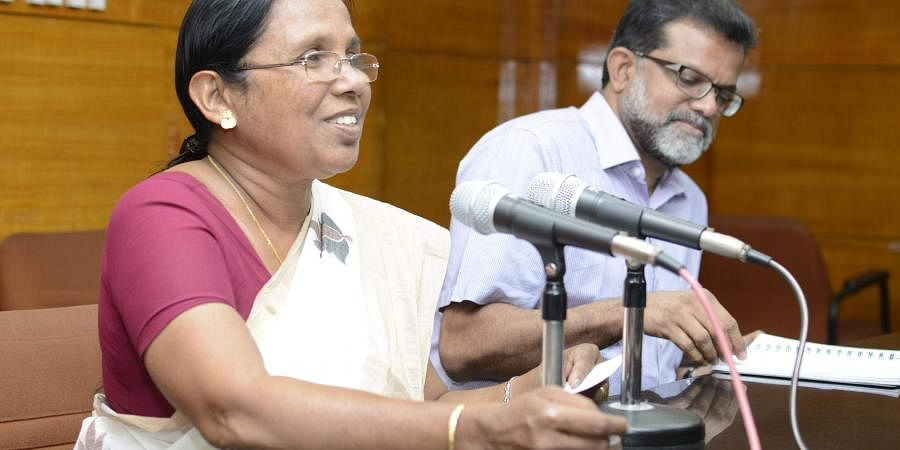 Kerala Minister for Health and Social Justice K K Shailaja