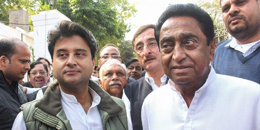 Madhya Pradesh CM Kamal Nath and former MP Jyotiraditya Scindia