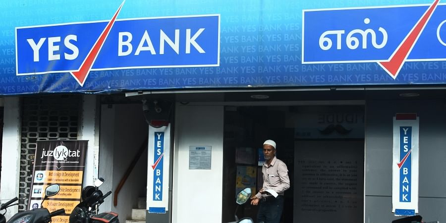 Customers walking without cash in Yes Bank at Triplicane after the RBI placed restrictions on the private lender