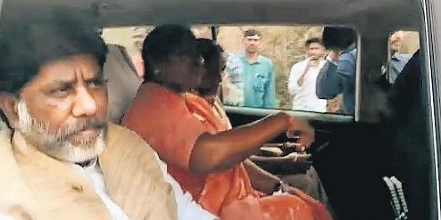 Telangana Opposition leader M Bhatti Vikramarka arrested by city police near assembly in Hyderabad on Saturday