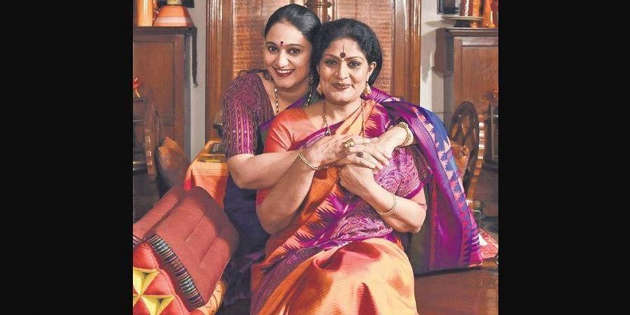 Geeta Chandran with daughter Sharanya