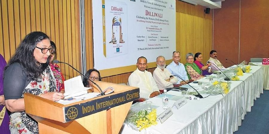 At the book launch of Dilliwali, IIC