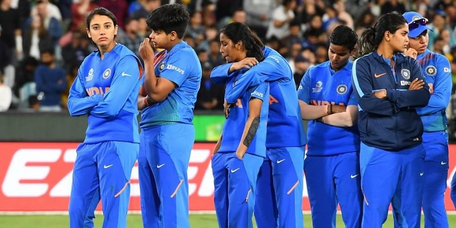 India's players react after they lost to Australia in their Twenty20 women's cricket World Cup final in Melbourne. (Photo | AFP)